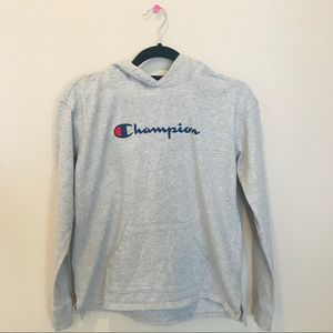 Gray Loose Champion Hoodie Mens (S)